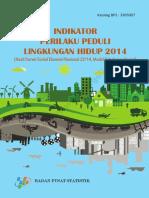 Indikator Perilaku Peduli Lingkungan Hidup 2014
