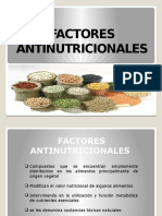Factores Antinutrientes o Antinutricionales