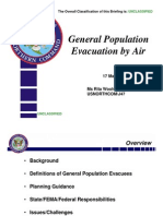 USNORTHCOM General Population Evacuation By Air