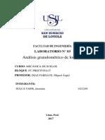 Informe 03 Meca Analisis Granulometricco