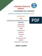 Alex Ejercicios Quimica Masa Relativa y Formula Empirica