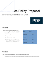 Attendance Policy Proposal