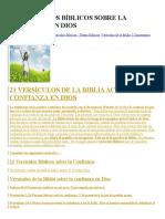 21 Versículos Bíblicos Sobre La Confianza en Dios