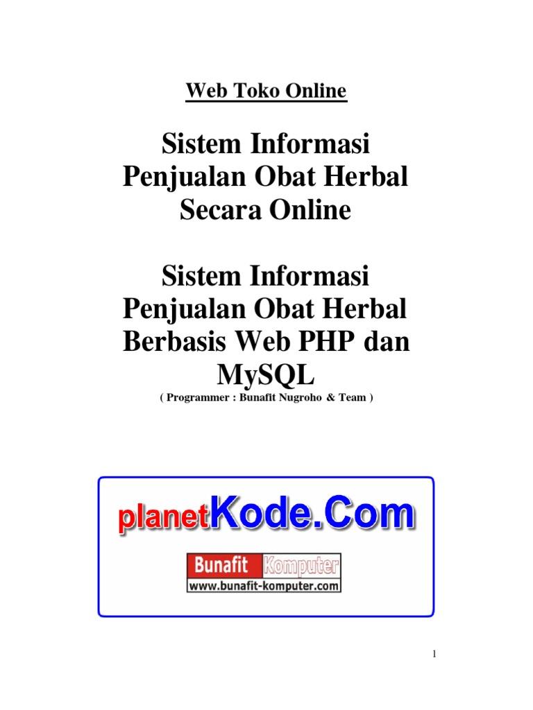Web Toko Online Erd Dan Desain Sistem Informasi Penjualan Obat