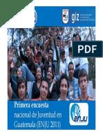 Encuesta Nacional de la Juventud 2011 - Power Point
