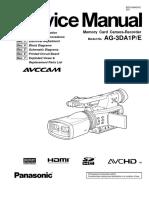 Panasonic Ag-3da1pe Service Manual