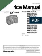 Panasonic Dmc-fz40pu Service Manual
