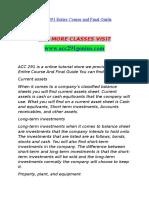 ACC 291 GENIUS Perfect Education/acc291genius.com