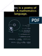 Math a Language & Physics a Poetry
