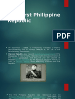 The First Philippine Republic Feb 16,20017