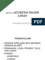 Bhs Indonesia Ragam Ilmiah