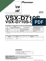 Pioneer Vsx d710s g (Rrv2447)