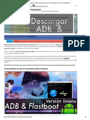 Descarga ADB y Fastboot (Version Liviana) + Guía de