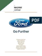 Ford Strategic Management
