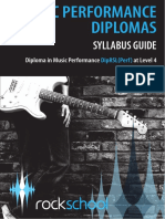 Rock School Performance Diploma Level Four Syllabus