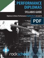 Rock School Performance Diploma Level Four Syllabus