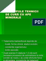 1 Principiile Tehnicii de Cură Cu Ape Minerale