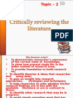 ARM Lecture 2 Literature Review