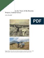 Τα πρώτα τριάντα έξι χρόνια του  Boeotia Project