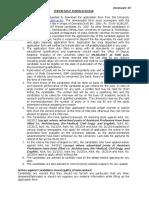 Important Instructions DCRUSTM Asst Professor Posts