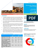 UNICEF DR Congo Humanitarian Sitrep, November-December 2016