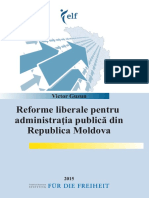 Liberal Reforms for Public Administration in Moldova RO