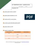 Ejercicios de Unidades de Temperatura - Actinteractiva