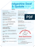 Cambridgeshire Deaf Church Newsletter February 2017