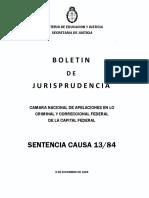 Sentencia Juicio a Las Juntas - Causa 13-84