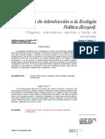 [Paper] Palacio - Breve Guía de Introducción a La Ecología Política