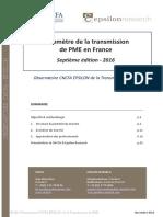 Baromètre CNCFA EPSILON de la transmission d'entreprise
