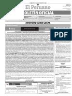 Diario Oficial El Peruano, Edición 9608. 16 de febrero de 2017
