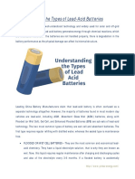 Understanding the Types of Lead-Acid Batteries