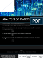 Analysis of Materials