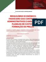 Reequilíbrio Econômico- Financeiro Dos Contratos Administrativos e Análise Da Planilha de Custos e Formação de Preços