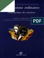 David Le Breton-Les Passions Ordinaires _ Anthropologie Des Émotions -A. Colin (1998)