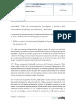 Actividad _Taller de Transcripción Fonológica y Fonética _Las Vocales