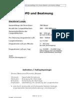 COPD und Beatmung
