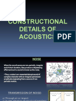 Contructional Details in Acoustics