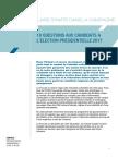 Le Livre dans la campagne présidentielle