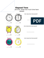 Math 4 - Elapsed Time