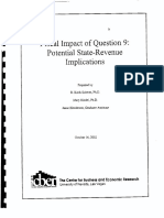 Fiscal Impact of Question 9