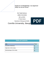 Job Stress of Employees in Bangladesh, An Empirical Study on Service Sector.
