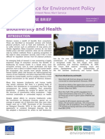 Biodiversity and Health (2011)
