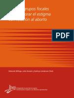 Guía de Grupos Focales para explorar el Estigma con relación al Aborto
