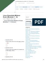 Linux Essentials Midterm Exam (Modules 1 – 8) - CCNA Exam 2016