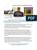 Chuck Thompson Resume