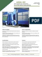 Specificatii Sisteme Centralizate Filtrarea Vaporilor de Vopsea AIRSOL DRY En