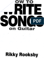 Rooksby, Rikky - How to Write Songs on Guitar