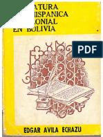 Literatura pre-hispanica y colonial en Bolivia Cap 1